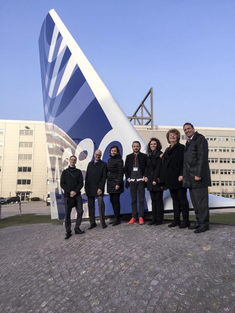 Der Innovation Circle auf dem Werksgelände von Airbus in Hamburg-Finkenwerder.