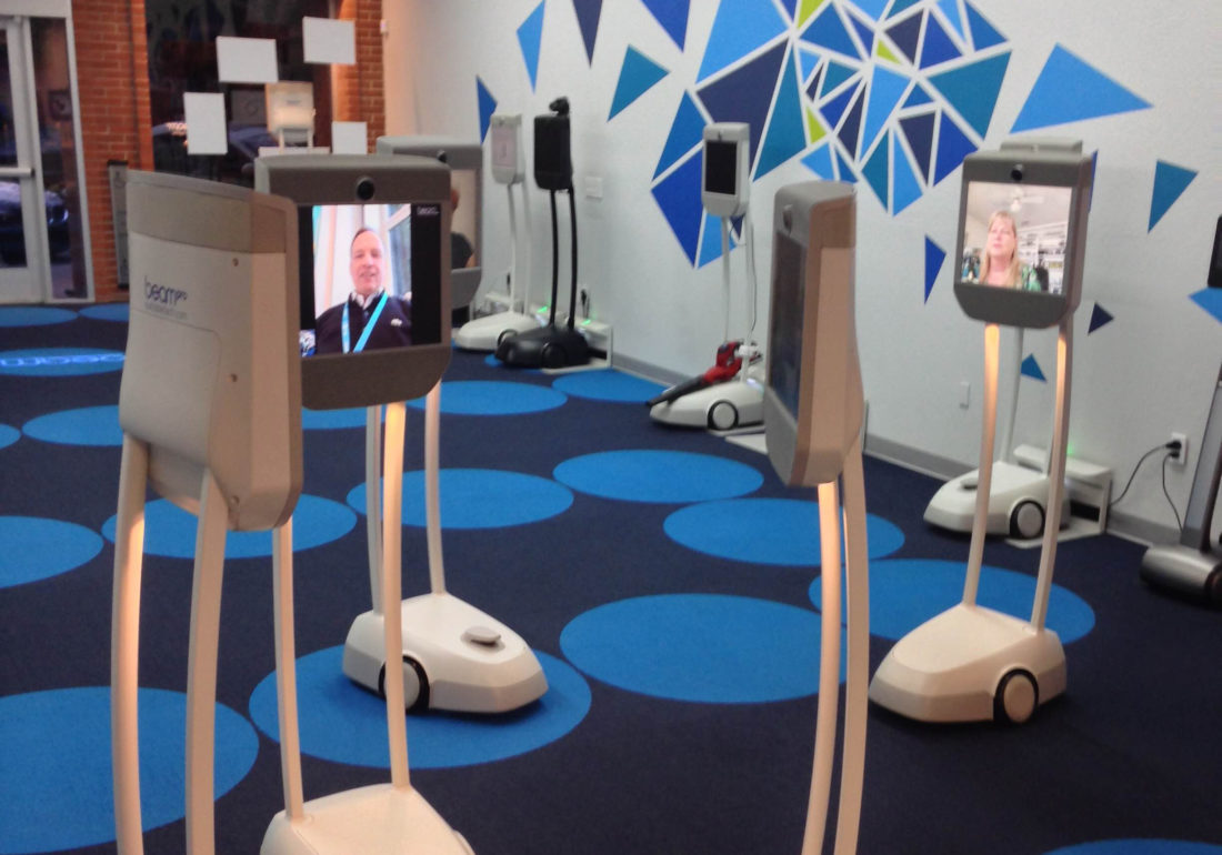 Immersion into Remote Communication: Telepresence Robots